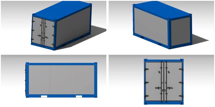 複合材料専用軽量ボックス